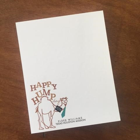 Missionary Stationery - Happy Hump Day Camel - Custom