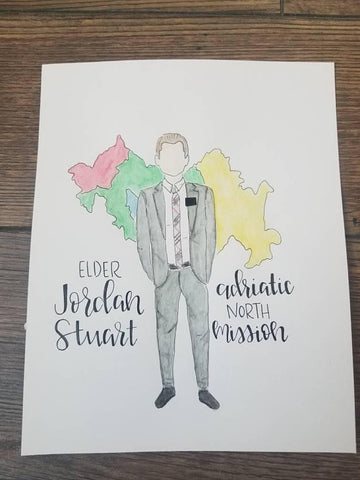 LDS Missionary Watercolor