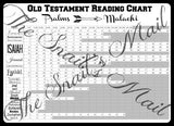 King James Version Old Testament Reading Chart - Instant Download
