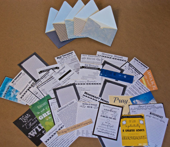 DIY Digital Download - LDS Missionary Mail Set - Inspirational, Uplifting Mail for Your LDS Missionary