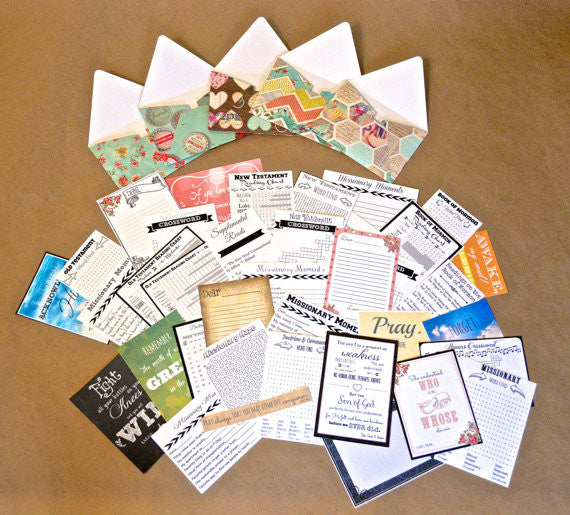 DIY Digital Download - LDS Sister Missionary Mail Set - Inspirational, Uplifting Mail for Your LDS Missionary