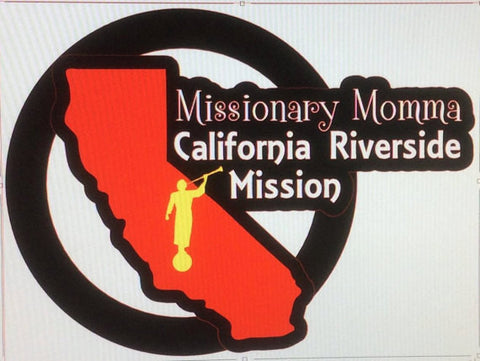 Missionary Momma Color Car Decal - Mission Specific