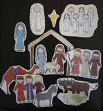 Christmas Nativity Flannel Board Story Felt Set