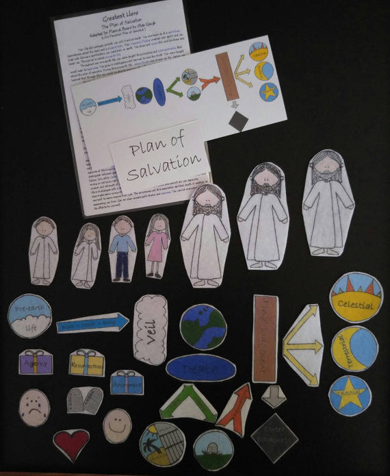 Plan of Salvation Flannel Board Story Felt Set