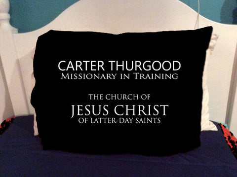 Future Missionary/Missionary in Training Name Tag Pillowcase