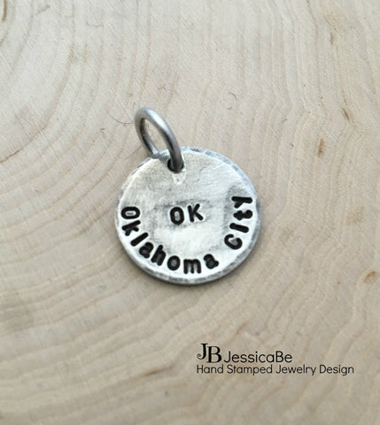 Personalized Hand Stamped Charm ~ Extra Charm ~ Add-On ~ Mother Necklace ~ Personalized Necklace ~ Personalized Jewelry ~ JessicaBe