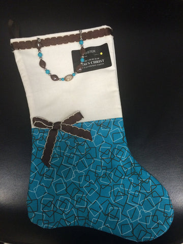 LDS (Mormon) Sister Missionary stocking, Ladies or Girls stocking with removable gift bracelet