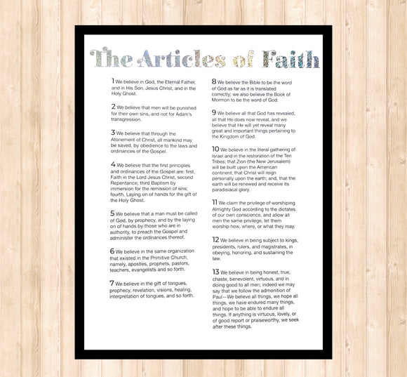 Articles of Faith, Holographic Foil