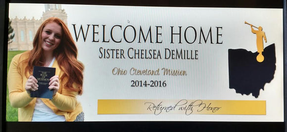 Missionary Welcome Home Photo Banner **DIGITAL FILE