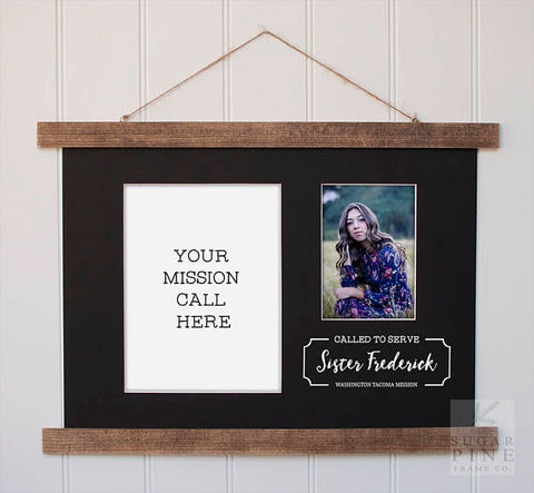 Called to Serve Mission Call Frame by Sugar Pine Frame Co