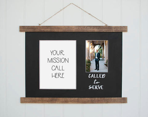 Called to Serve Mission Call Frame B by Sugar Pine Frame Co