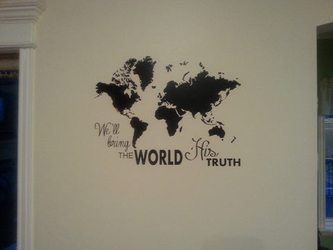 Wall Sized Map - We'll Bring the World His Truth
