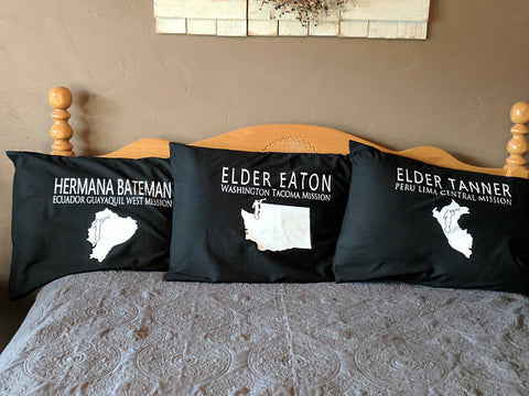 Mission Missionary Pillowcase includes Map