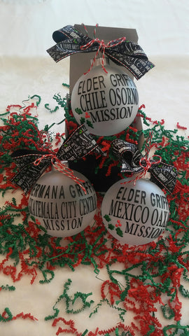 Frosted Glass Ornament - Customized