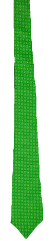 Green with Circles - Handmade Men's Necktie