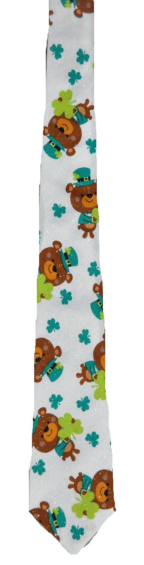Teddy Bears and Shamrocks - Handmade Men's Necktie