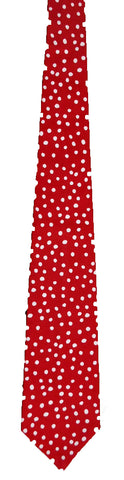 Red and White Polka Dot - Handmade Men's Necktie