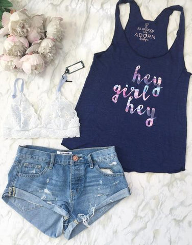 Adorn Collection - Hey Girl Tank
