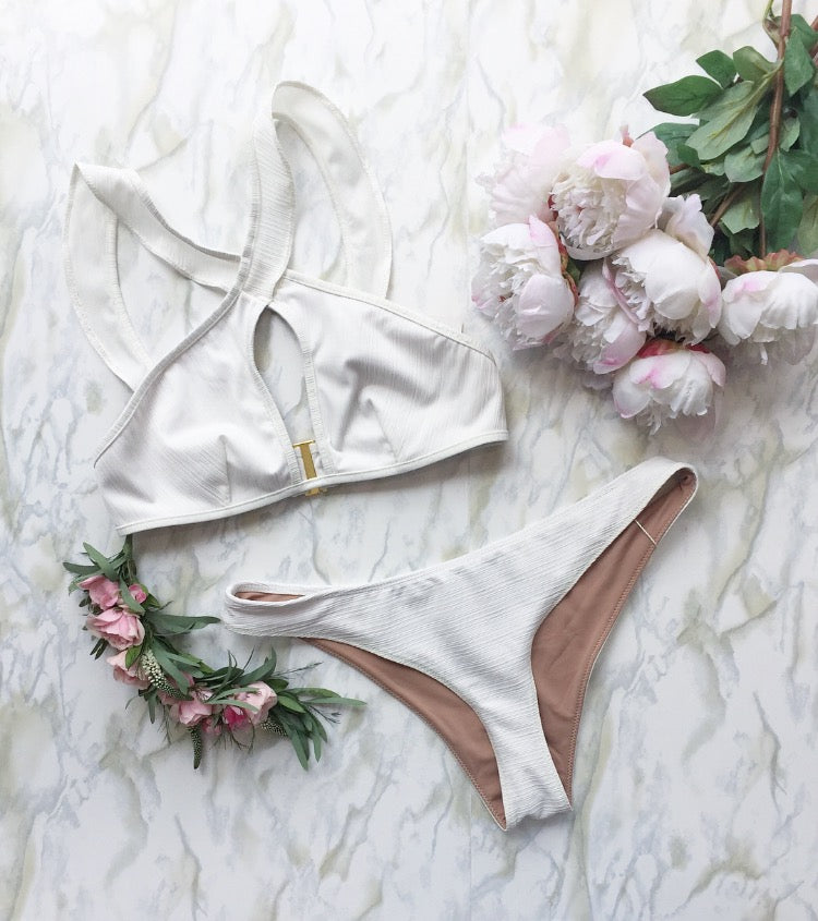 For Love and Lemons La Playa Ruffle Bikini