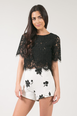 Layered Lace Crop Top *More Colours*