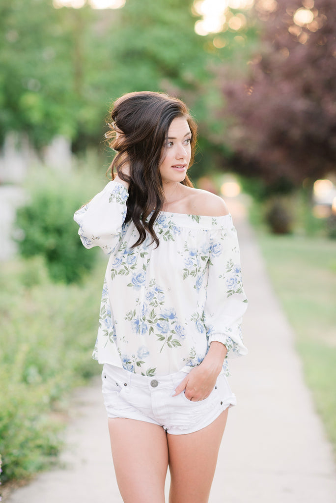 Marley Floral Off-the-Shoulder Top