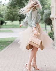 Soft Tulle Skirt - Coffee