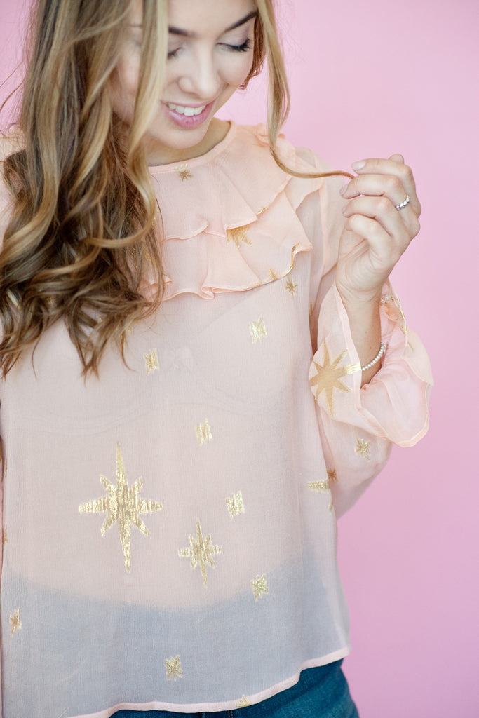 For Love and Lemons - Gilded Star Blouse