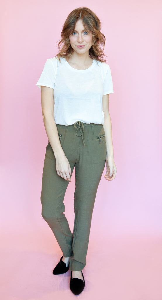 Olive Slouchy Pants
