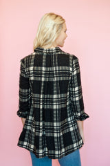 Free People - Black Plaid Tunic