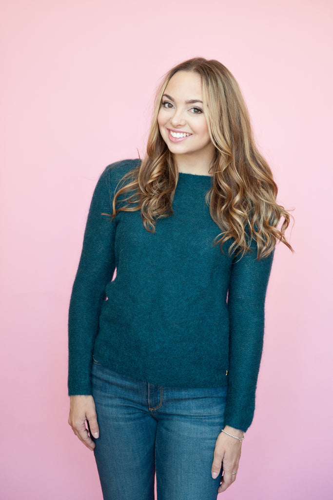 Teal Button-Back Sweater