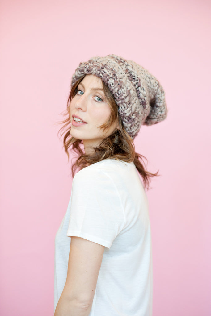 Free People - Purple Knit Touque