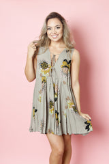 Free People - Floral Printed Tie Tunic