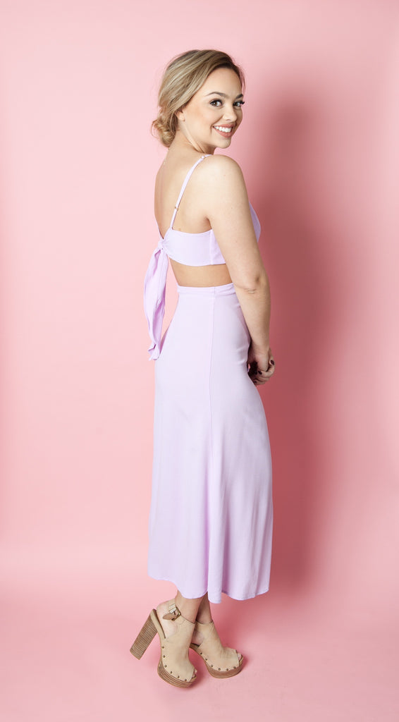 Mallory Maxi Dress in Pink Lady and Black