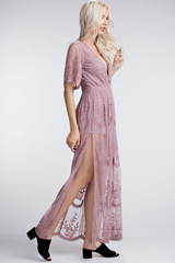 Embroidered Lace Maxi *More Colours*