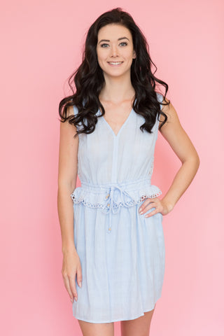 Anya Dress in Powder Blue