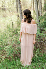 The Jetset Diaries - Moana Maxi Dress in Champagne
