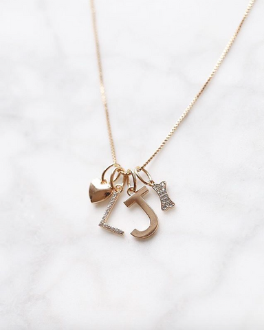 Pre-Order - Melanie Auld and Jillian Harris 'Adorned' Collaboration Pave Initial Charms!