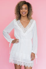 Eclipse Lace Trim Dress