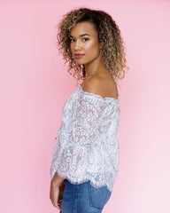 Scalloped Lace Off-the-Shoulder Top