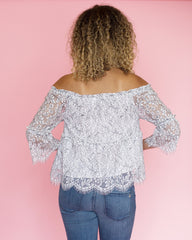 Ruby Scalloped Lace Off-the-Shoulder Top