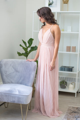 Natasha Pleated Maxi Dress