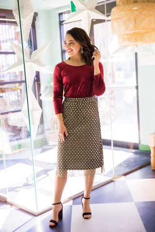 Karla Spotted Skirt