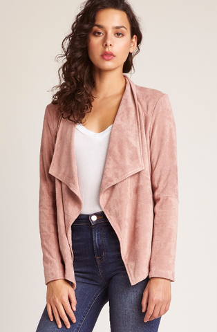 Wade Suede Jacket in Rose Taupe