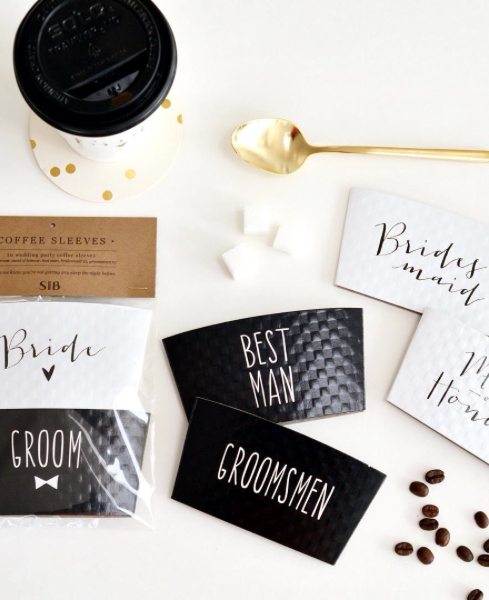 Stevie & Bean - Bridal Party Coffee Sleeves