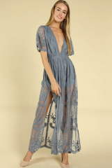 Lily Embroidered Lace Maxi Jumpsuit *More Colours*