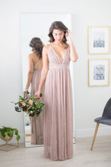 Lindsay Shimmer Maxi Dress