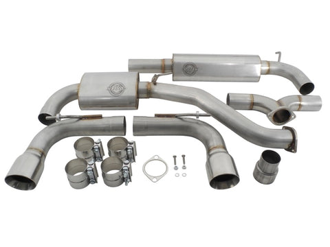 GTI Mk7 Catback Exhaust dual resonator