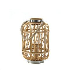 Medium Woven Rattan Candle Lantern