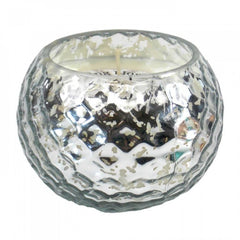 Silver-tone Honeycomb Scented Candle