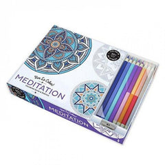 Meditation Adult Coloring Book W/pencils